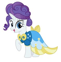 MLP Wearing Dresses | My Little Pony Friendship is Magic Rarity Wearing a Dress