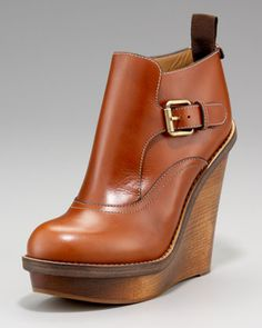 Chloe wedge booties.