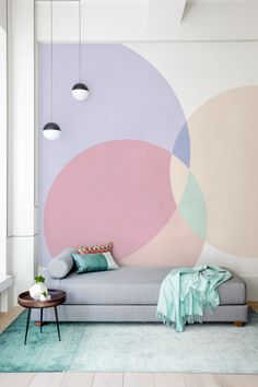 Room Wall Painting, Room Paint, Colorful Interior Design, Colorful Interiors, Wall Paint Patterns, Hallway Wall Decor, Queen Room, Home Decor Signs, Contemporary Decor