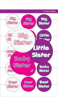 27e8df25eb3 Digital Bottle Cap Image Big Sister Little by smrpartydesigns