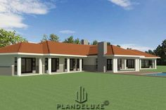5 Bedroom House Plans, Garage House Plans, Ranch House Plans, House Floor Plans, House Plans For Sale, Modern House Plans, Building Design, Building A House, House Plans South Africa