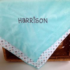 Minky blanket for Harrison! Life Made Chic an Etsy shop where Fashion meets Function!