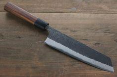 Kurosaki Blue Super Clad Hammered Kurouchi Bunka Japanese Chef Knife 180mm