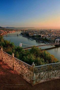 Budapest from the Gellért Hill Most Beautiful Cities, Beautiful Places To Visit, Wonderful Places, Places To See, Places Around The World, Travel Around The World, Around The Worlds, Vacation Destinations, Vacation Spots
