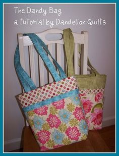 Free Dandy Bag Sewing Tutorial #sewing