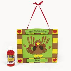 Handprint and Footprint Arts & Crafts: Halloween & Thanksgiving Handprint Kits for kids {Fall Round Up}