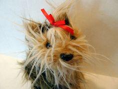 Fuzzy Nation Miniature Yorkie Dog Purse   #FuzzyNation #Purse
