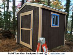 Backyard Shed Plans 10x10 Shed Plans, Wood Shed Plans, Barn Plans, 8x8 Shed, Portable Sheds, Pool Shed, Shed Base, Shed Blueprints, Simple Shed