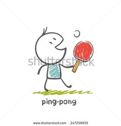 Stock Images similar to ID 122338939 - table tennis silhouettes