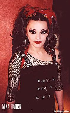 Nina Hagen b1955 East German born punk singer/actress (please follow minkshmink on pinterest)