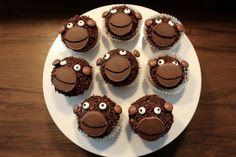 Affenmuffins Yummi...hier gibt es das Thermomixrezept für diese sehr leckere Schokomuffins... Muffin Affe für den Kindergeburtstag,