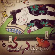 Horitomo Resting Cat
