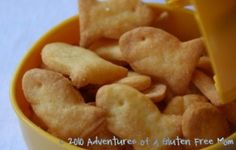 """Gluten Free """"Goldfish"""" Crackers"""