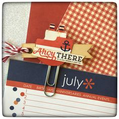 Nautical Planner Journal Decorative Clip by Jackie Benedict