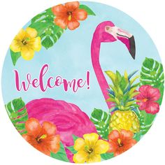 Bright Green, Pathways, Hibiscus, Stepping Stones, Flamingo, Pineapple, Home And Garden, Indoor, Fresh