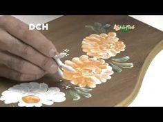 8° Clase de Pintura Decorativa (-pintar la pieza -calcar el diseño -dar base blanca a todo el diseño -pintar color doble carga arriba blanco abajo el color -pintar todo el motivo)