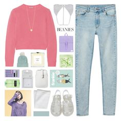 """""""do i look lonely?"""" by hhuricane ❤ liked on Polyvore featuring Miu Miu, Monki, Pink Soda, Eight & Bob, Topshop, Herschel Supply Co., H&M, Casio, CB2 and Mossimo"""