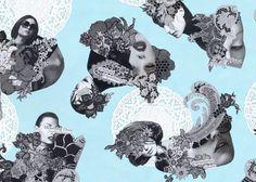 Audrée Lapierre | Lace collages