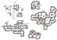 Release the Kraken – Ruins of the Gorgon! Game Level Design, Game Design, Game Modding, Release The Kraken, Map Layout, Dungeon Maps, Game Resources, Fantasy Map, Pen And Paper