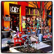 The Loft on downtown Asheville on Broadway. A unique store we love.