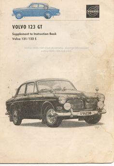 Volvo 123GT Supplement to Instruction Book 1967