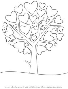 I've printed about 15 of these coloring sheets because my kids love decorating the tree in different ways (with crayons, colored pencils, even paint!) *Be sure to read the section about bringing math into the project. Count the hearts!!!