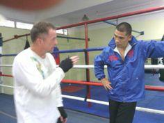 speaking with trainer Robert Varron