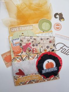 Altered envelope using Simple Stories Hello Fall Collection