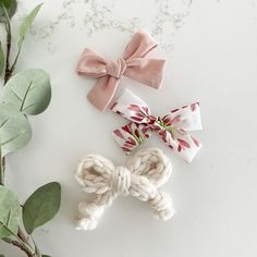 Dec 12, 2020 - Set of 3 bows on alligator clips or nylon headbands. - Shell pink crepe pinwheel - Hearts pinwheel - Ivory Sweater Bow   Handmade in the USA Cloth Paper Towels, Baby Easter Outfit, Toddler Girl Gifts, Kids Headbands, Pin On, Baby Hair Bows, Handmade Baby, Valentines, Baby Style