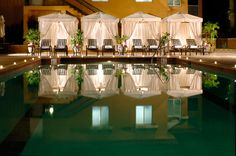 The pool at night, Bellasera Hotel in beautiful Naples, Florida. #NaplesFL