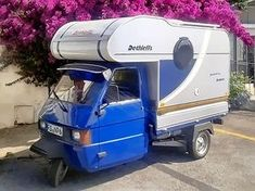 Piaggio Ape 50 by Peter Whiddon Small Camper Trailers, Tiny Camper, Small Campers, Camper Caravan, Rv Trailers, Travel Trailers, Vespa Ape, Scooter Bike, Piaggio Ape