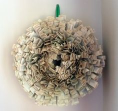 Check out our fun upcycled book wreath tutorial! (Just keep it out of the rain!)