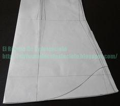 Trazando curva en el largo del patrón de blusa