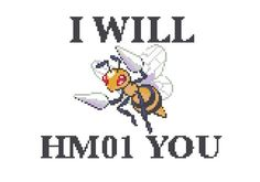 Beedrill HM01 Cross Stitch Pattern by jennrbeeStitches on Etsy