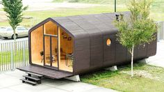 Live, work, or vacation in an eco-friendly, mobile cardboard prefab.