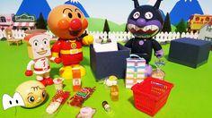アンパンマン しょくぱんまん メロンパンナちゃん ミニチュアのスーパーでお買い物!アニメ&おもちゃ Miniature Toys