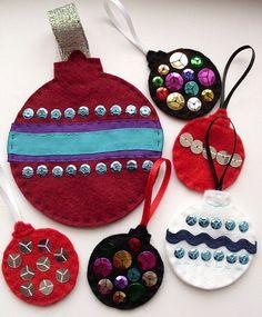 Cómo coser sus propias manos decoraciones de Navidad de fieltro / Taller