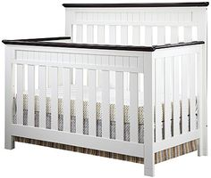 "Delta Chalet 4-in-1 Lifetime Crib - White Ambiance/Dark Chocolate - Delta - Babies ""R"" Us"