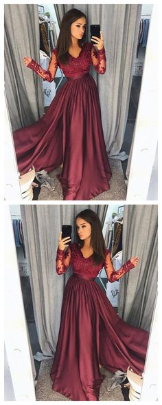 prom dresses long,prom dresses modest,prom dresses burgundy,prom dresses cheap,beautiful prom dresses,prom dresses 2018,prom dresses a line,prom dresses long with sleeves #amyprom #longpromdress #fashion #love #party #formal