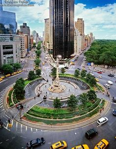 Columbus Circle. View from the bar in the Mandarin Oriental are spectacular -- overlooking southern Central Park.