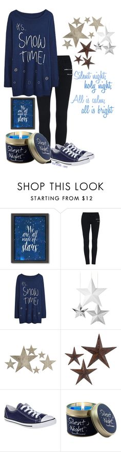 """""""18 Days Until Christmas"""" by pinkbubblerose ❤ liked on Polyvore featuring Americanflat, Talking Tables, Slippin' Southern, jcp and Converse"""