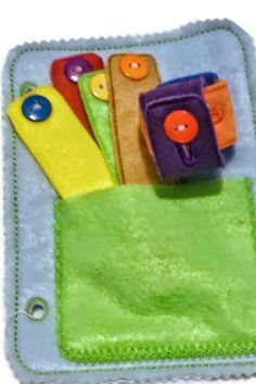 Learn to button felt chain quiet activity book page and can be added to other…