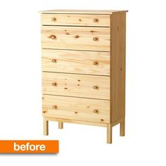 Before & After: A Tame IKEA Tarva Gets a Chic Upgrade Smitten Studio.....new dresser for bedroom?