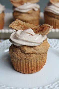 Whole Wheat Churro Cupcakes, via @Sara Eriksson _Pidge's Pantry.