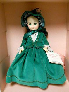 """Madame Alexander-SCARLETT JUBILEE II #1500-Green Velvet Dress-14"""" Doll-1989-NEW"""
