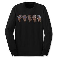 'C-Wok' Long Sleeve T-Shirt @hutchlosangeles #BleuAndCream #BenjieEscobar #Ewok #StarWars