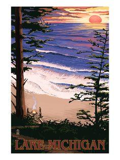 Lake Michigan, Posters and Prints at Art.com