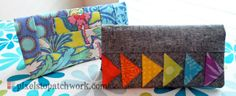 Checkbook Covers from Pixels to Patchwork: Practically Paper Piecing Blog Hop: Orphan quilt blocks find a home ;)