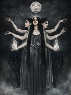 Hecate Goddess Perfume Oakmoss Neroli by LunaAndEvesBoutique