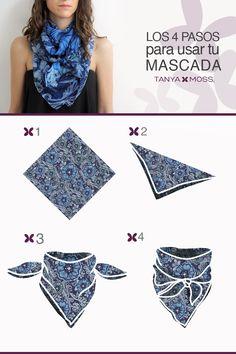 Conoce otra manera de usar tus mascadas. Vaquero style scarf knot